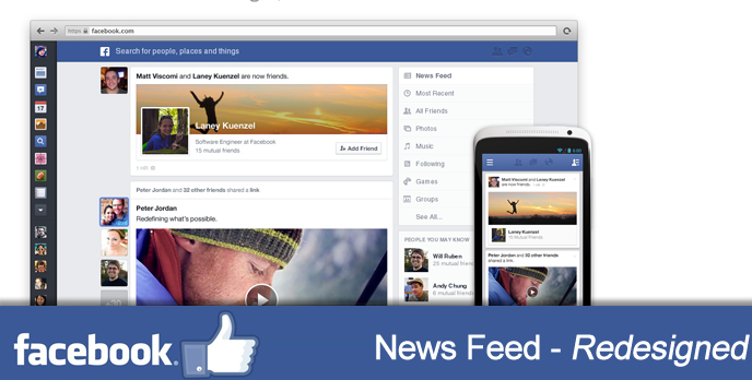 Facebook's 'News Feed' Redesigned | Tech & ALL