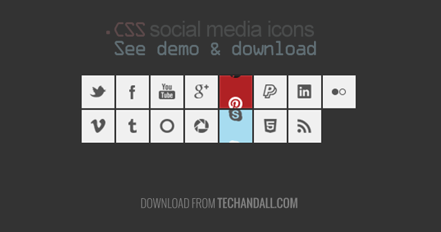 15 Social Media Icons including  CSS Slide Effect | Tech & ALL