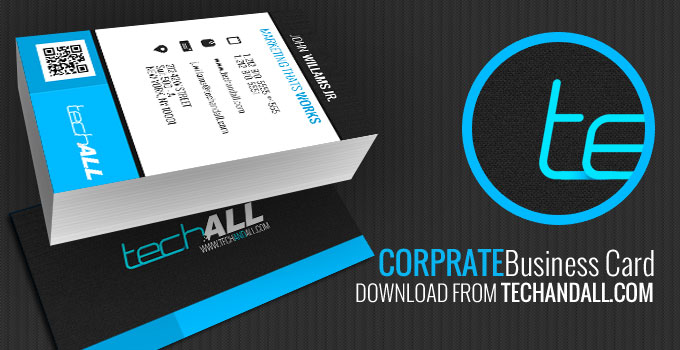 Corprate business card d template welcome to tech all corprate business card d template flashek