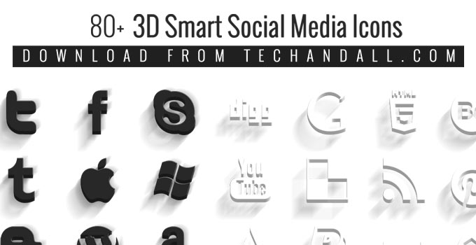 techandall_3D_socialmedia_icons_preview