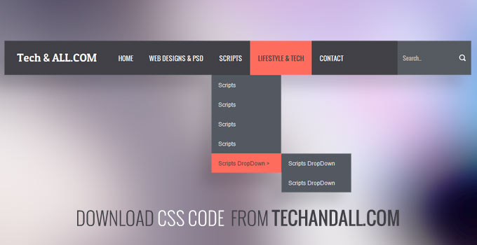 techandall_CSS_Dropdown_menu2