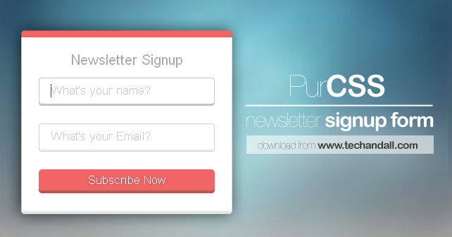 Pure Css Based Newsletter Subscription Form Tech All