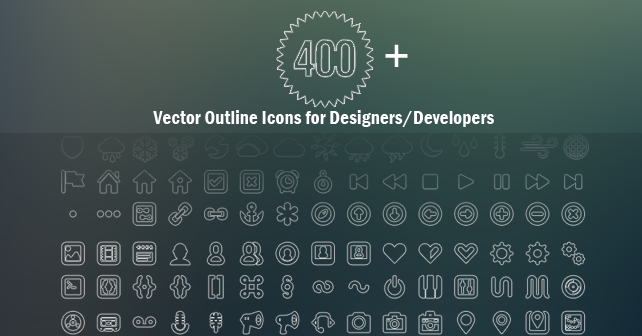 TechAndAll_400_Plus_vector_outline_icons_preview