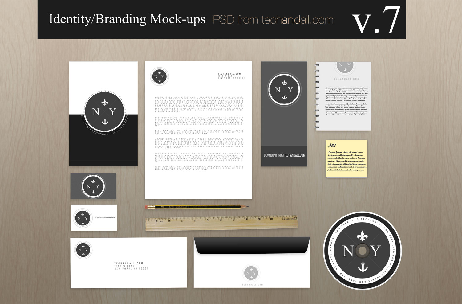 Branding Identity Mock-up v7 – Welcome to Tech & ALL