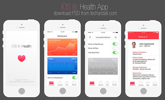 apple ios 8 health app mockup