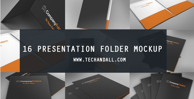 16 presentation folder mockup – welcome to tech & all, Presentation templates