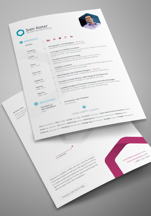 Resume CV InDesign Template – Welcome to Tech & ALL