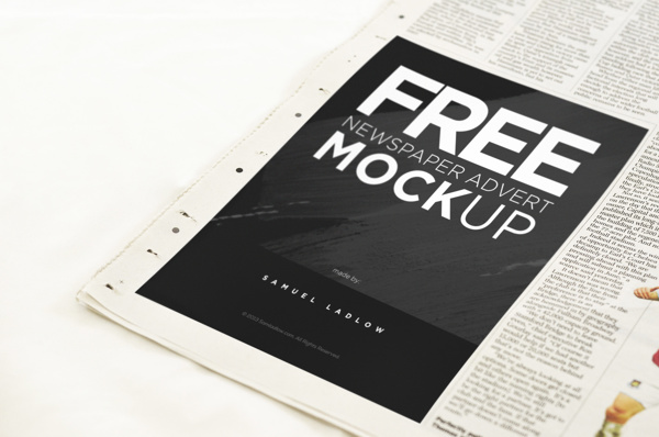 Newspaper Advert Mockup – Welcome to Tech & ALL