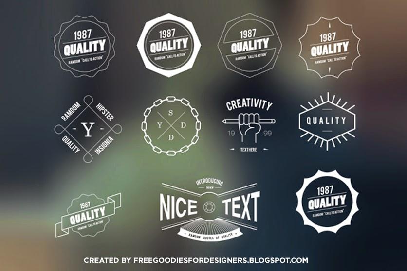 11 Vintage Logo Badges