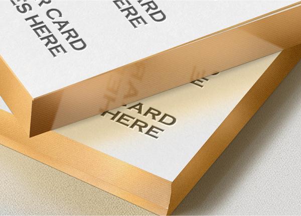 Gold edge letterpress business card mock up welcome to tech all gold edge letterpress business card mock up reheart Choice Image