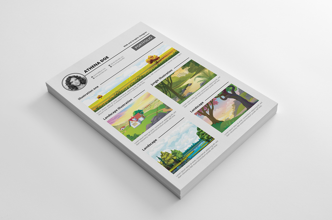 Remarkable image in printable portfolio template