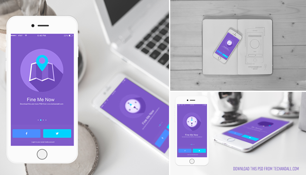 ios app showcase mockup psd – welcome to tech & all, Powerpoint templates