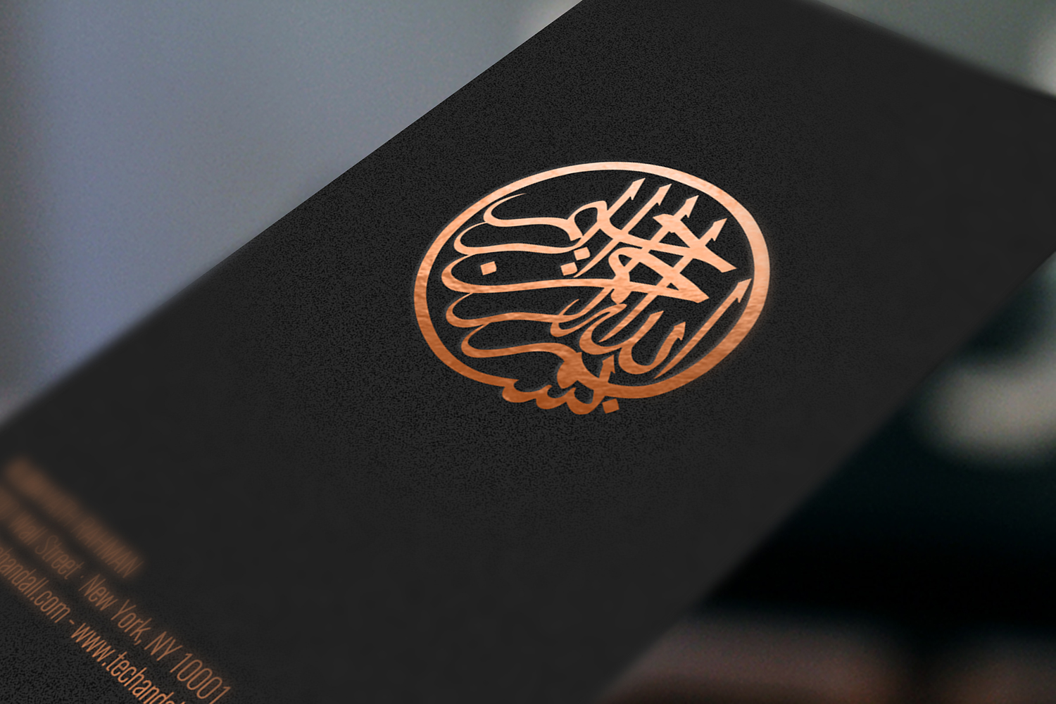 Copper Metallic Foil Logo MockUp Welcome To Tech ALL