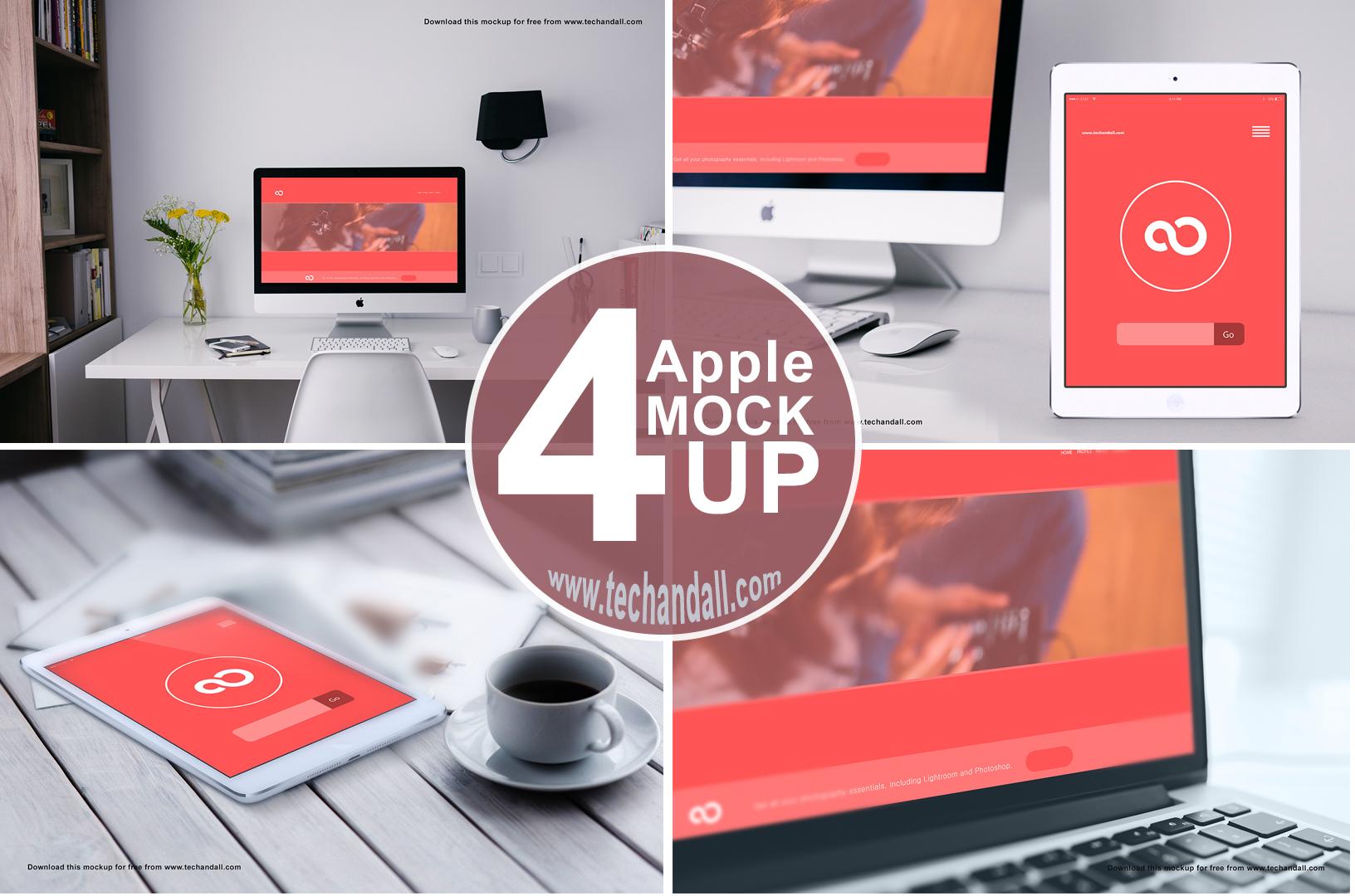 Apple Family Mock up PSD | Tech & ALL
