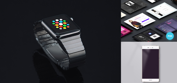 20 Mobile UI Kit, Apple Watch and Huawi Mockup | Tech & ALL