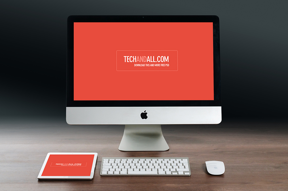 iMac-iPad-PSD