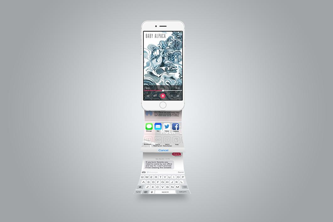 iphone app presentation mockup psd tech all