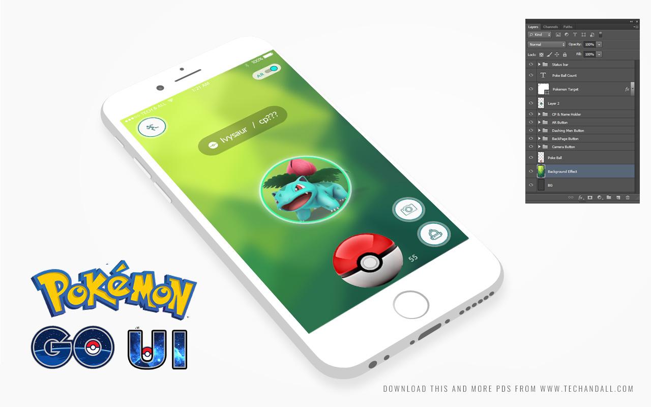 pokemon-go-UI-kit-v2