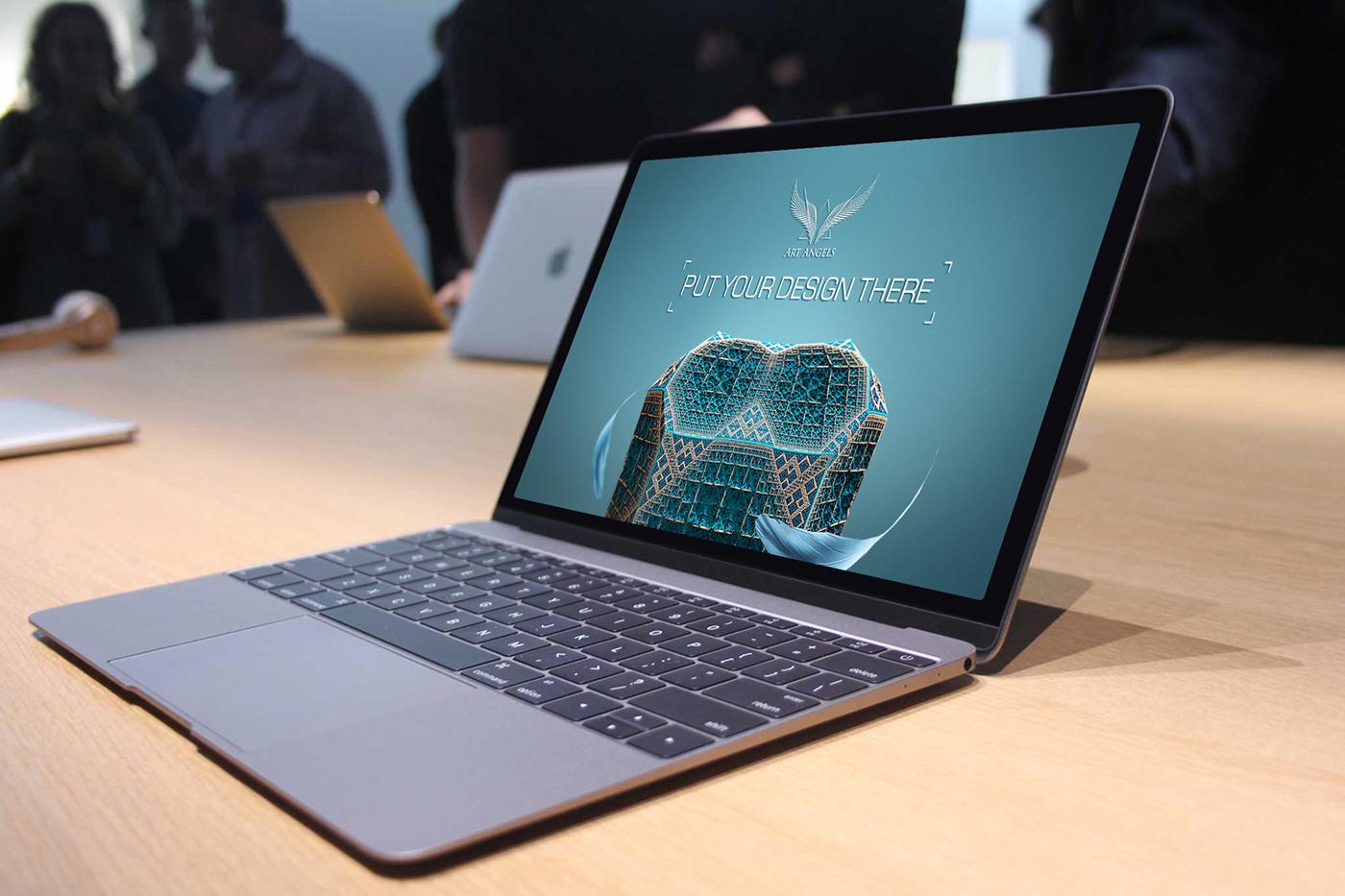 OnePlus 3 And 2016 MacBook Mockup